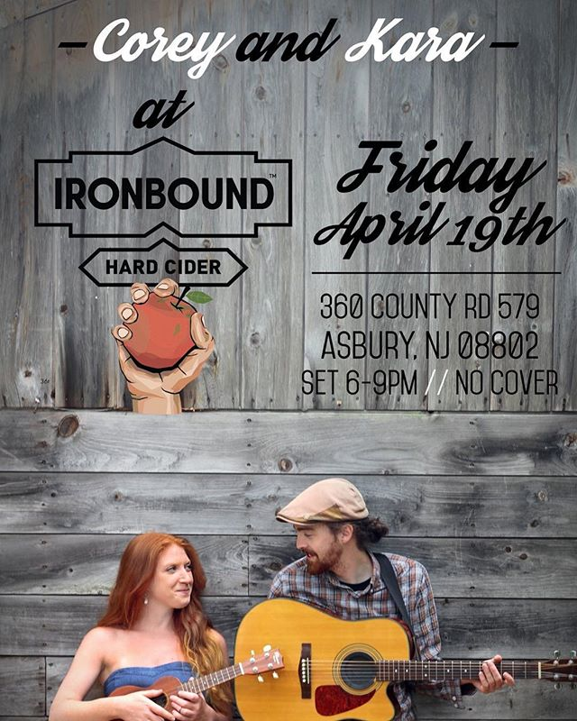 Join us Friday, April 19th at @ironboundhardcider from 6-9pm! My favorite cider, as well as great good and no cover charge! Hope to see you there. @kara_lia