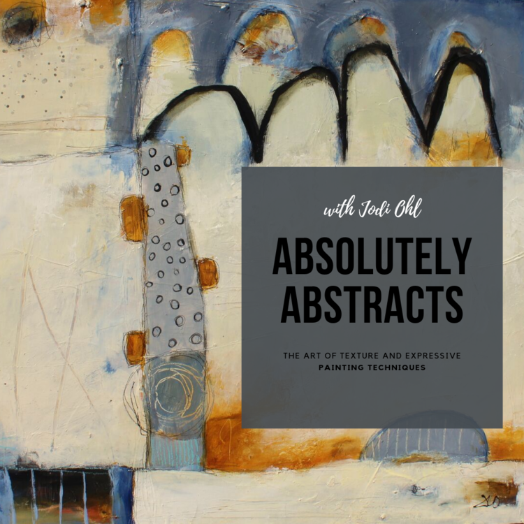 NEW! ABSOLUTELY ABSTRACTS - The Art of Texture and Expressive Acrylic Painting Techniques**PLEASE NOTE - This course is currently in Pre-SALE Status** Scheduled to open on 11/8/19.NEW! Opening November 2019! During this comprehensive and exciting new workshop by Jodi Ohl, you will explore many ways to conquer the fear of the blank canvas and learn how to make abstract painting less intimidating. You will be using acrylic paint and other mixed media components during this course. With her down to earth approach and professional experience, Jodi will help make abstract painting accessible to anyone. The course will have students explore abstract painting through multiple lessons focusing on applying texture, creating depth with color and design, understand how to use line work and mark making to create gorgeous layers within an abstract work of art.For more information and to register, click HERE.