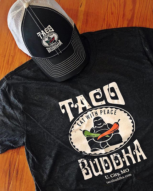 Are you #TeamTacoBuddha?? Share your #TacoBuddha love with the world by sporting our new #swag!! [T-shirts and hats are $20 each] ✌️❤️🌮 . #tacostoobuddhalicious #tacobuddhabelly #hatchchileheaven #peacelovetacos #eatwithpeace #taco #tacolove #tacos #stlrestaurants #stlswag #stllove #stlfoodscene #stl #stlouis #saintlouis #stlouisfoodie #stlproud #stlrepresent #lgb