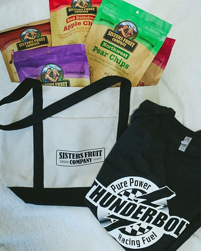 GIVEAWAY! We are teaming up with @sistersfruitcompany giving away some of their fantastic fruit chips along with a T-Shirt featuring  @thunderboltfuel @coffmanracing  All you have to do:  1) Follow @thunderboltfuel  2) Follow @sistersfruitcompany  3) Like this post!  4) Tag a friend  Giveaway ends Monday, May 6th. Must be 18+ and a US Resident. Not affiliated with Instagram. • • • • • #racing #race #speed #motorsport #engine #sportscar #driver #horsepower #wheel #vehicle #sportscars #tires #tire #vehicles #drive #exoticcar #exoticcars #ride #rim #exotic #racecar #spoiler #wheels #cars #muffler #car #rims #honda #freeway #drifting