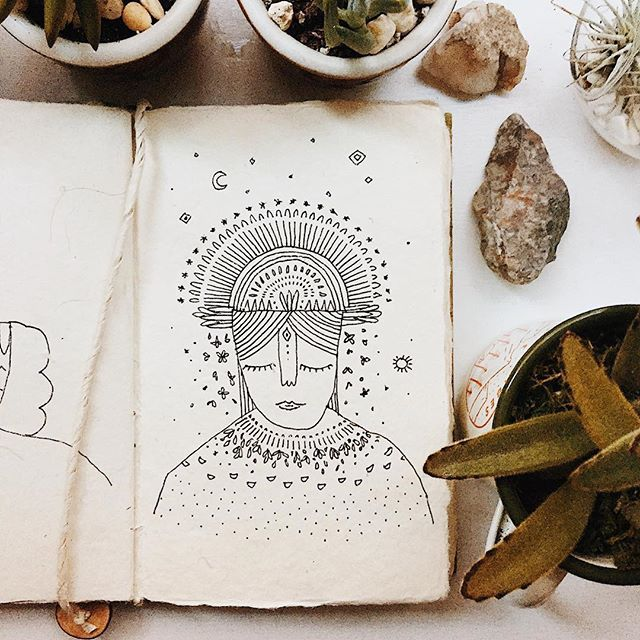#Artist: @landandshestudio . Friday artist share! Love her work. Not only are her creations beautiful, her words below are just as beautiful. ・・・ Find strength from strong women. They hold all your answers. She's been through the pain and the fear and the lessons. She has all the answers you need. These women come from other strong women, and ancestors of strong women before that. These women have held the weight of the world. They have all the answers you need. Reach to them. Embody them. Live your life through them. They have all the answers you need. #landandshe #process . . .  Follow @landandshestudio to see more of her work! Tag a woman below who inspires you! . #jgWeekendArtistSpotlight #womensupportingwomen