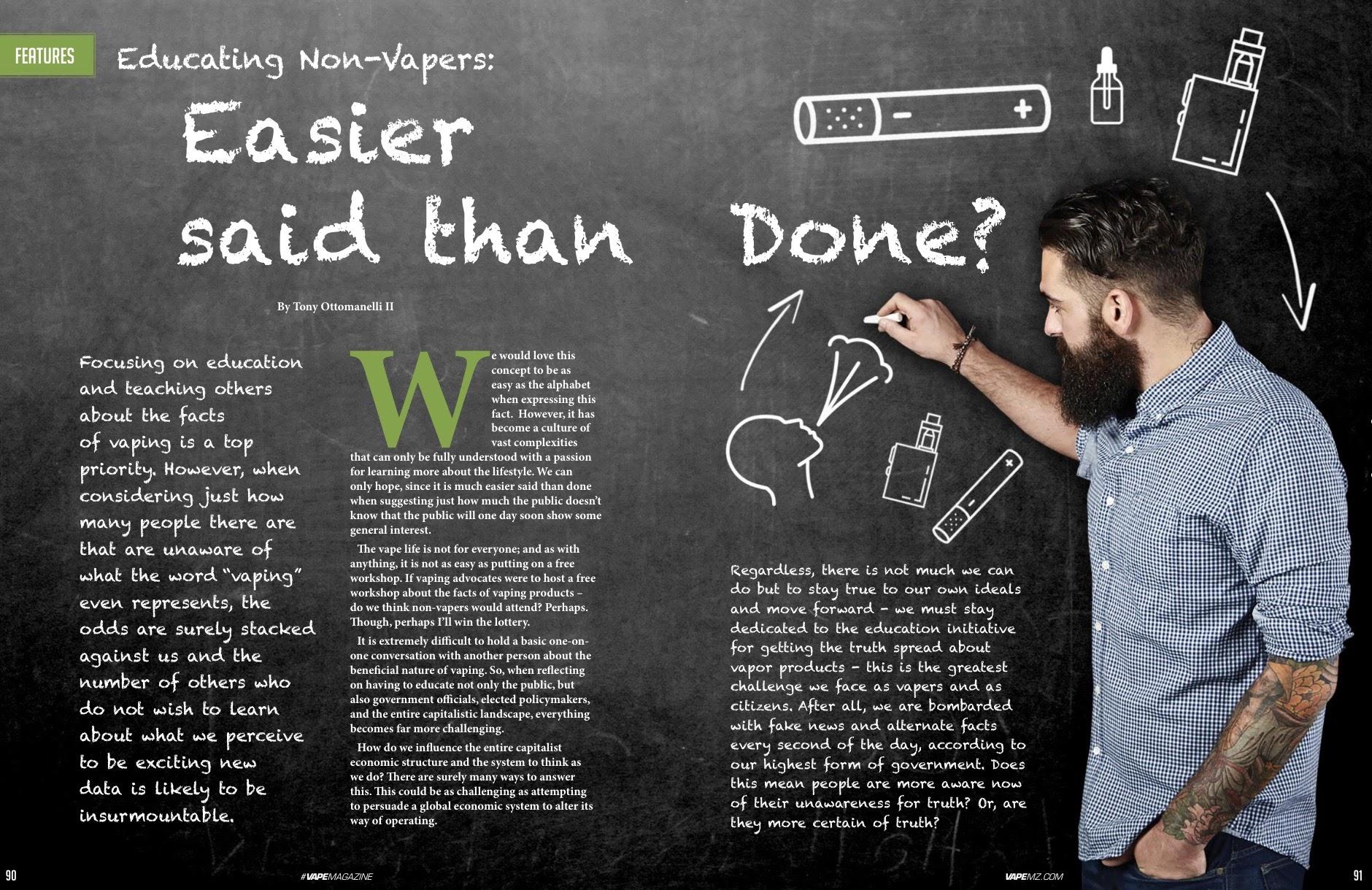 VAPE Magazine Published Article