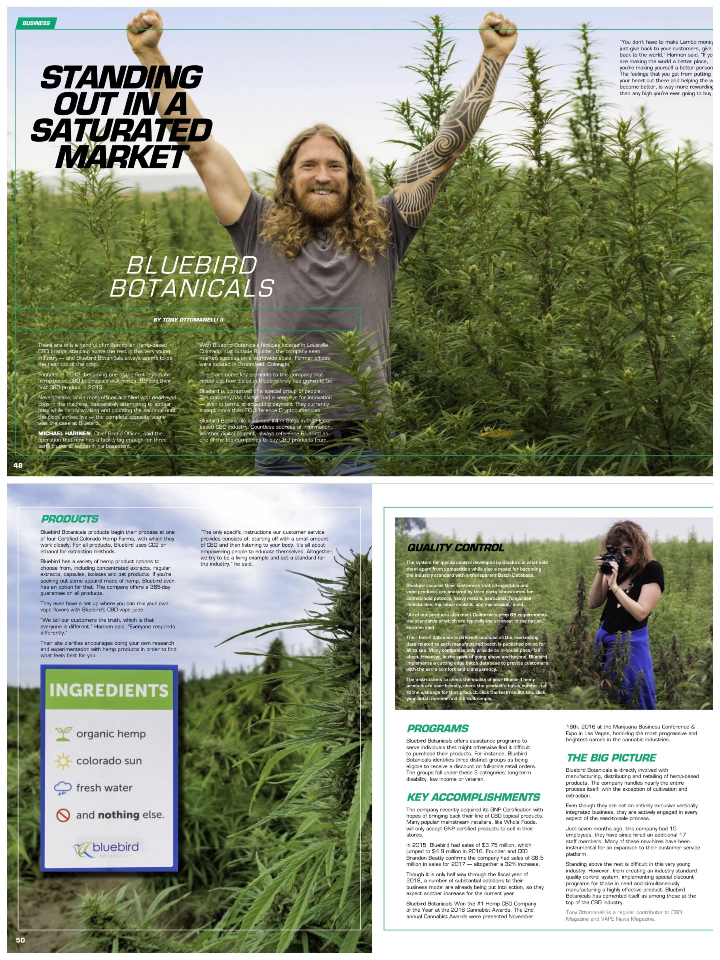 """""""Bluebird Botanicals: Standing Out in a Saturated Market""""  CBD Magazine"""