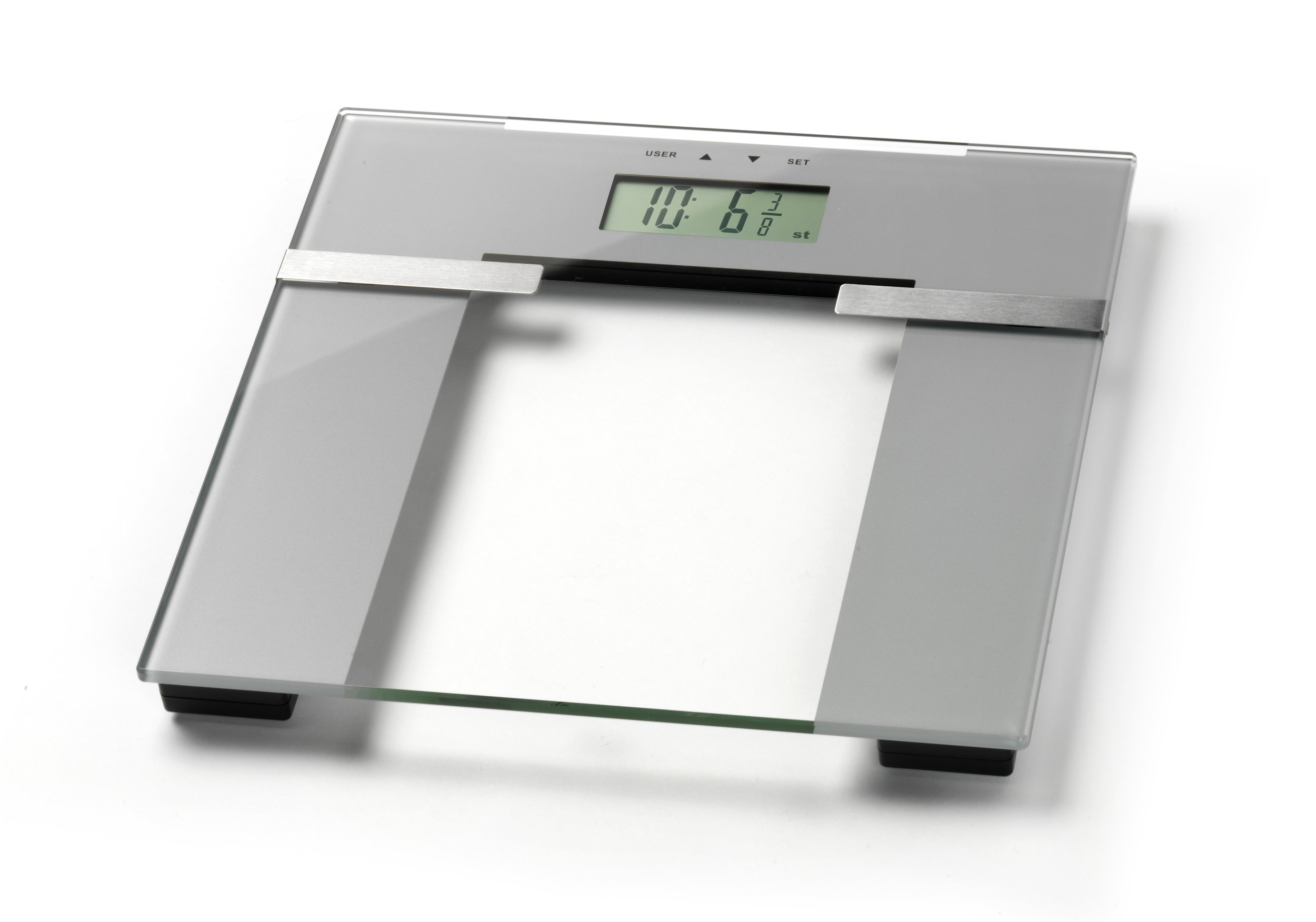 Ultra Slim Glass Body Analyser Scale