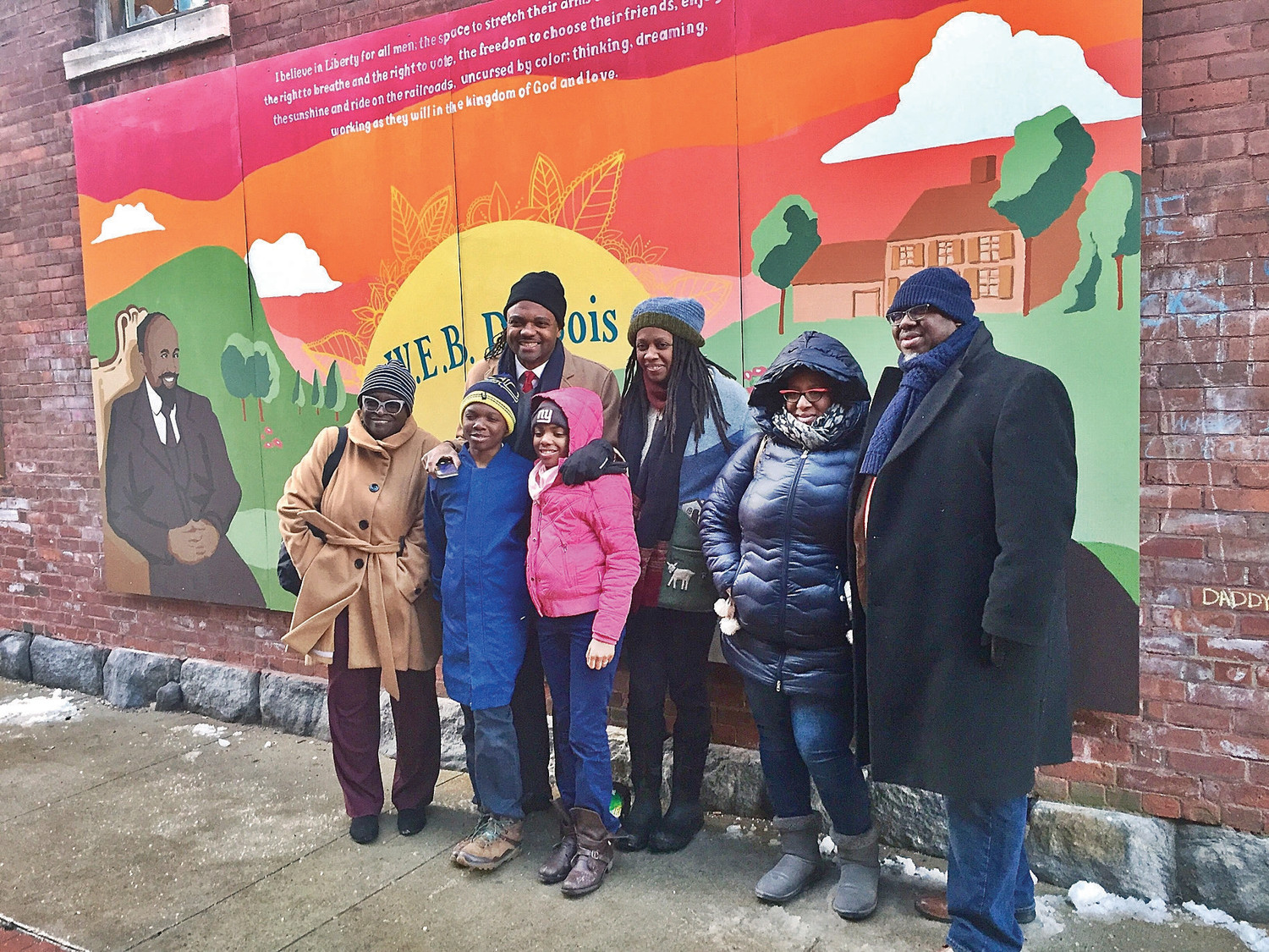 """Elizabeth Blackshine, co-founder of Harmony Homestead & Wholeness came from Albany, N.Y. with family and friends for this """"historic event."""""""