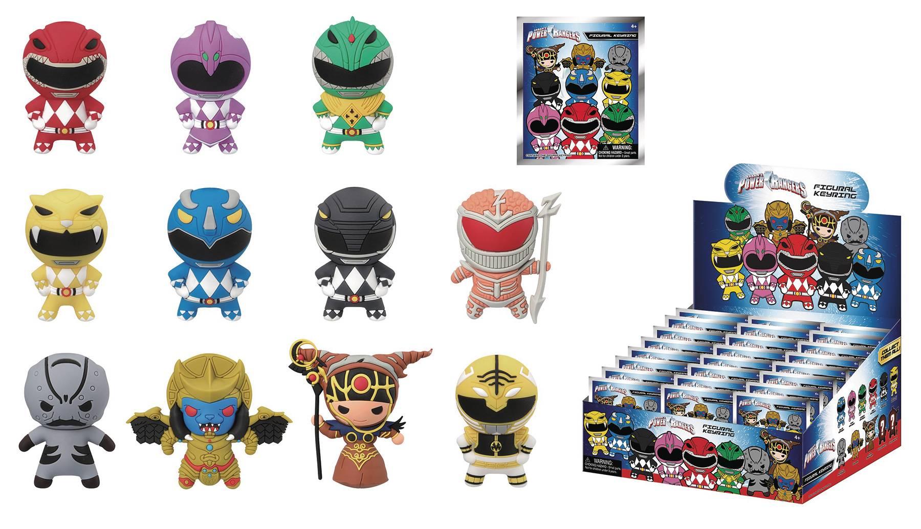 Power Rangers Mystery Keyrings