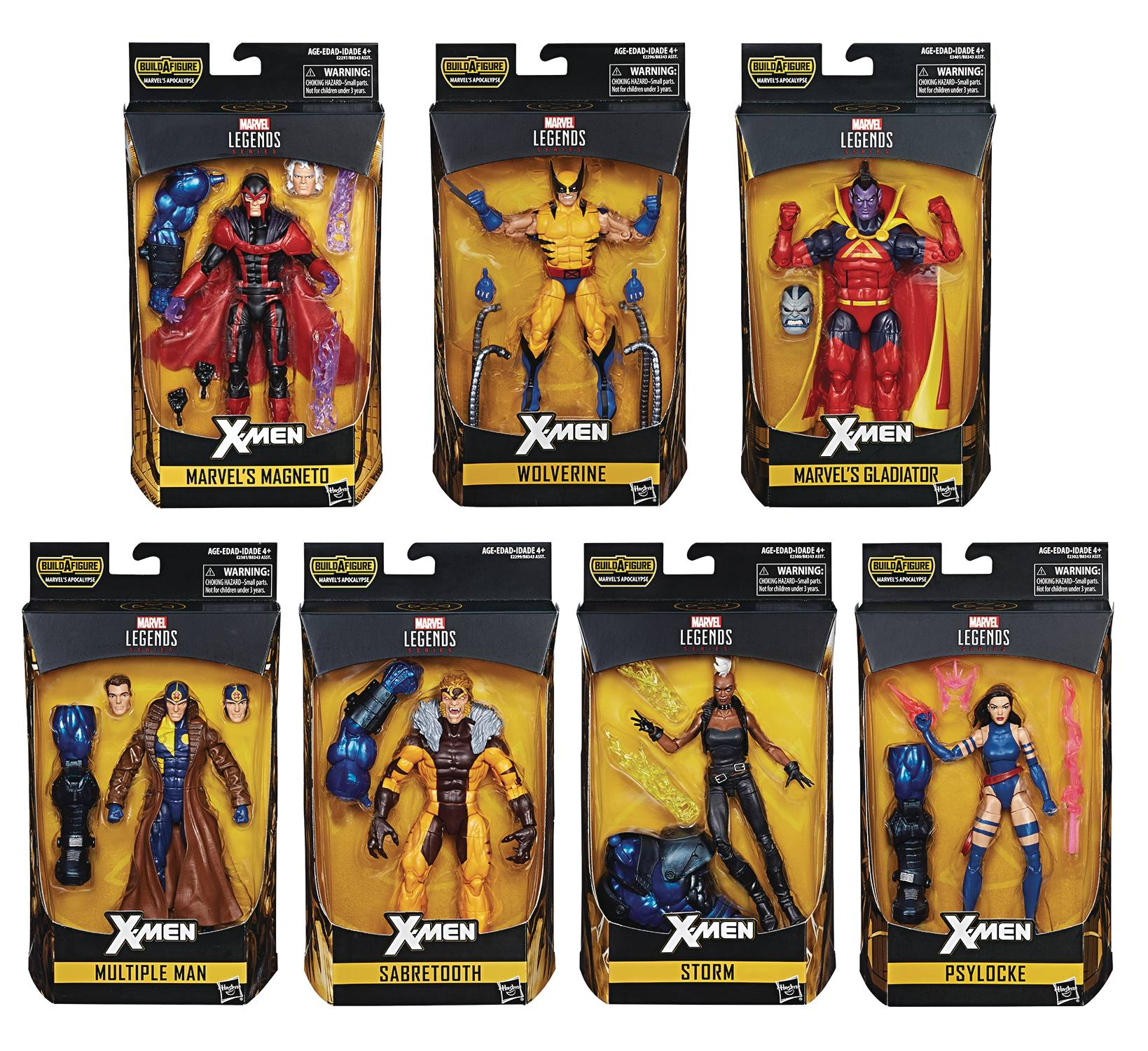 x-men legendary assortment. Psylocke, storm, sabretooth, multiple man, magneto, wolverine, gladiator
