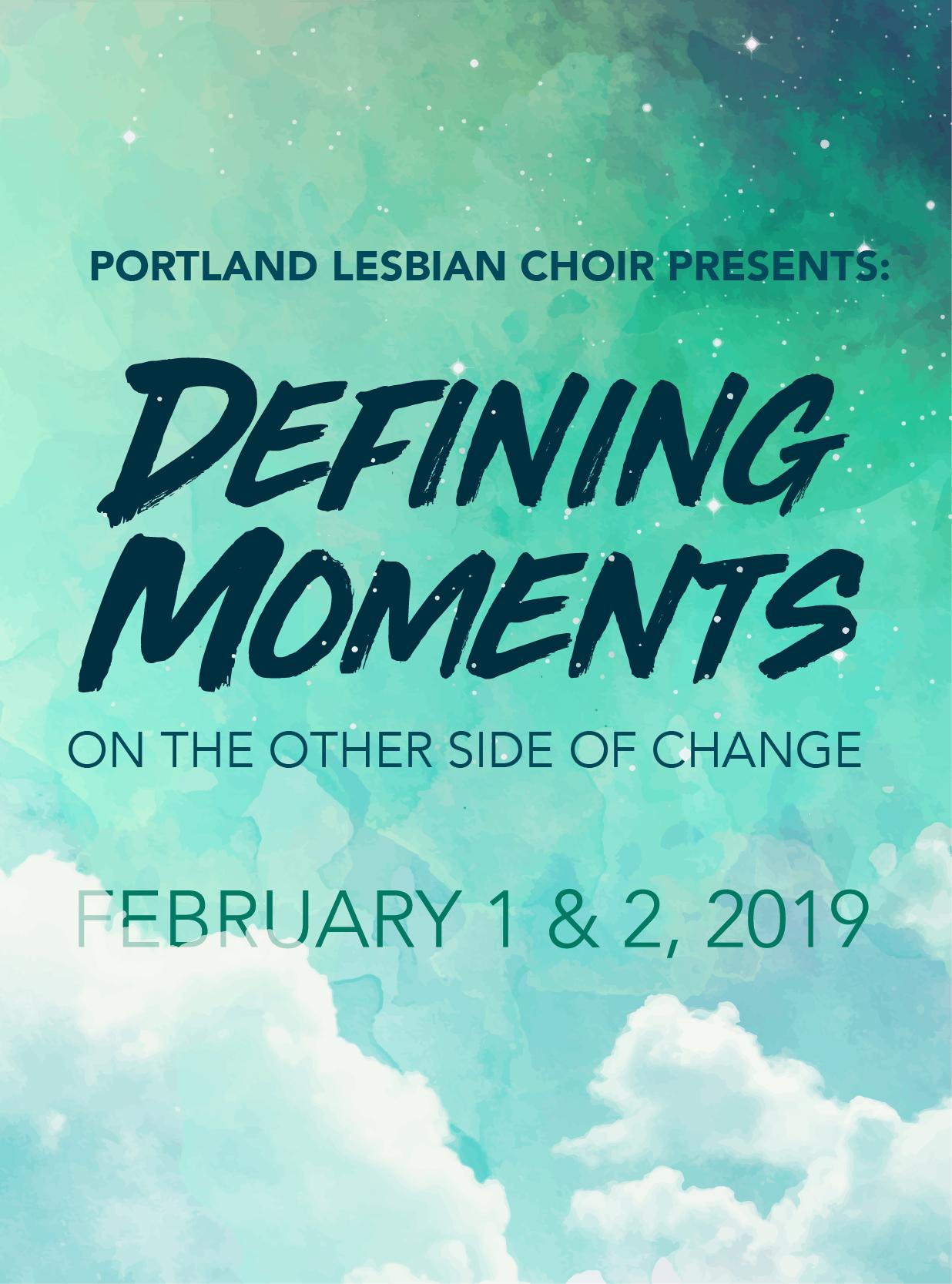 DEFINING MOMENTS - FEBRUARY 2019