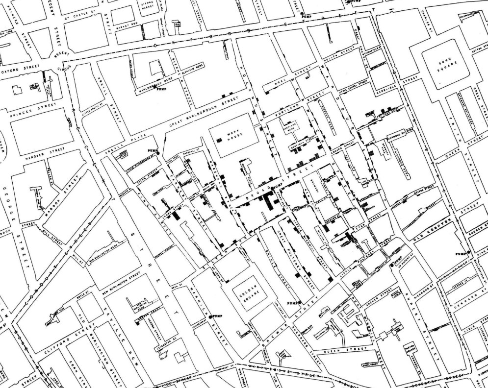 Diagram source:    https://en.wikipedia.org/wiki/1854_Broad_Street_cholera_outbreak