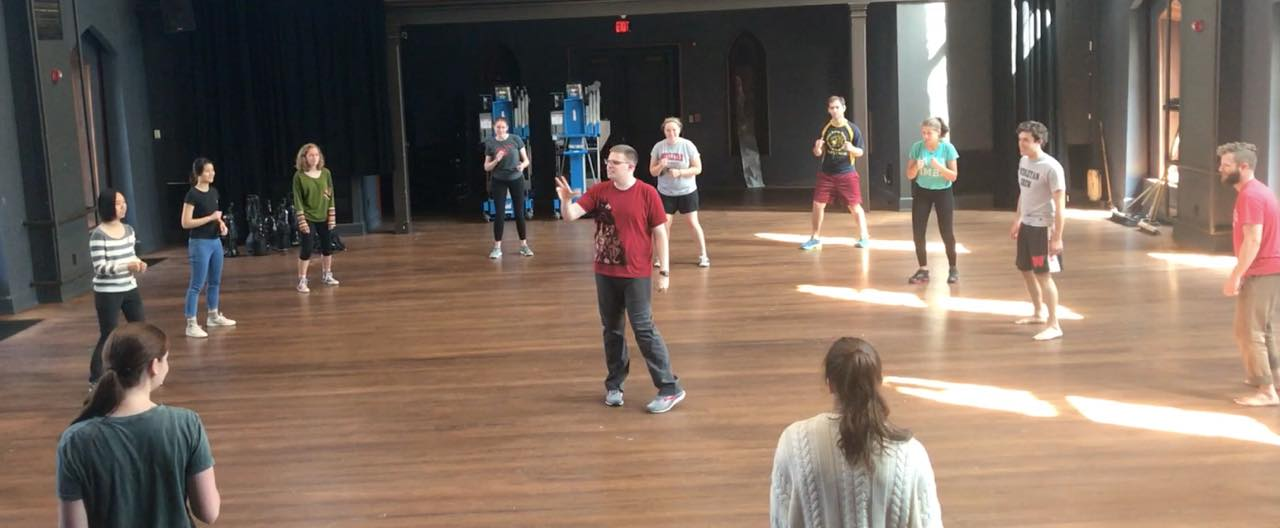 Dispatch-Led Stage Combat Workshop at Wesleyan University's Second Stage