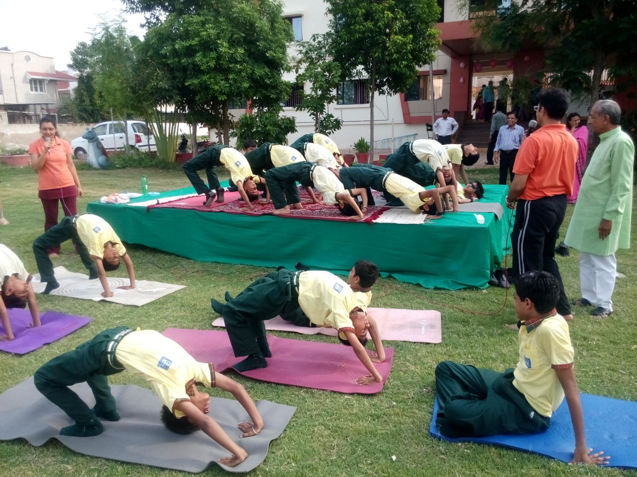 Yoga camp at SS Divine school, 2014