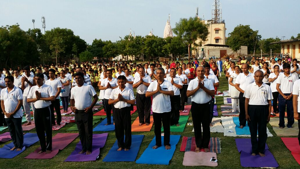 Yoga camp at SSD school & Swami Narayan temple, Science City