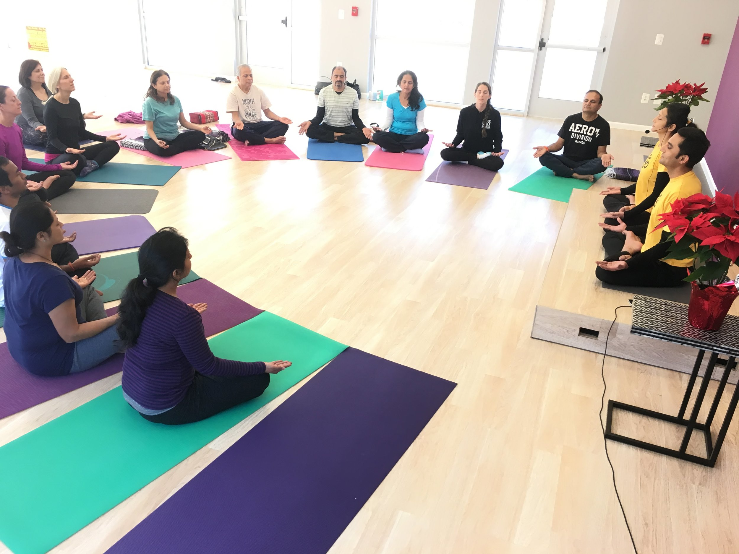 Group Meditation at HYC Lorton, 2018