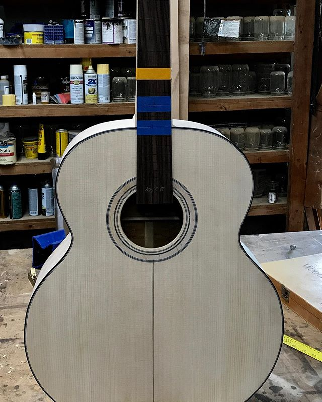 Got the maple neck shaped and fit to the body today.