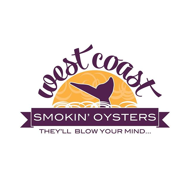 Old and new logo comparison. I recently tweaked this logo for @smokinoysters Can you spot the differences? . . . #logorefresh #newbutnottoonew #branding #logodesign #purpleandyellow