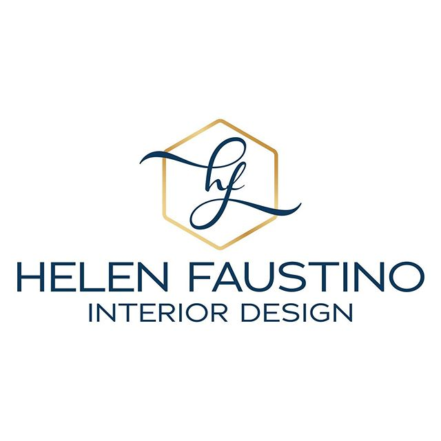 New logo for @helenfaustinointeriordesign  This was a super-fun project for a fellow designer of a slightly different discipline. Helen was extremely helpful during the entire process. She is a true professional who understands that the #branding path is not always straight or easy but entirely rewarding! We concentrated on a hex icon for Helen's logo to represent the homes and workspaces she plans with her clients. With a fancy script monogram contrasting a classic sans serif font for her business name. Navy and gold seems a natural fit. . I can't wait to see her website go live! Created by @zukdesignstudio . . .  #branding #navyandgoldlogo #logodesign #interiordesignlogo #logo #branddevelopment #graphicdesign