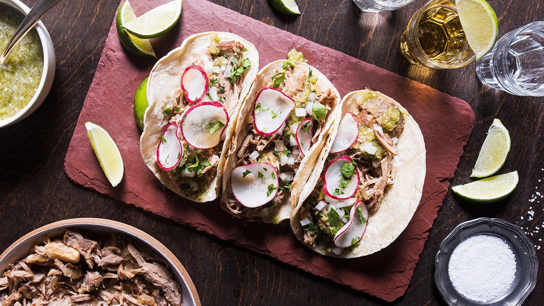 Carnitas Tacos with Tomatillo Salsa