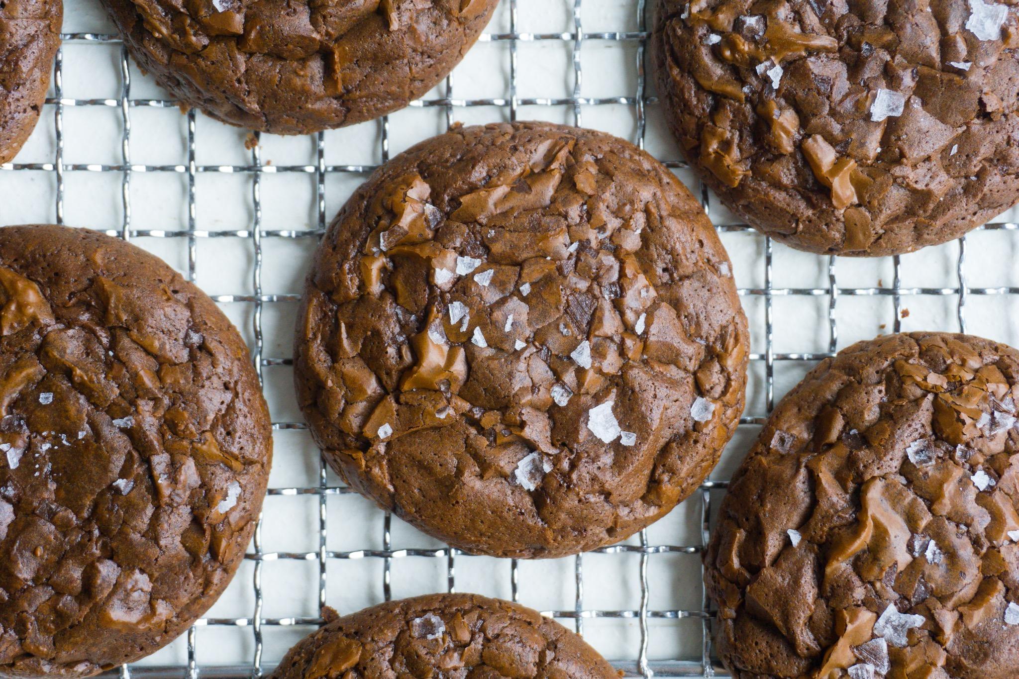 Salted Chocolate-Cardamom Cookies
