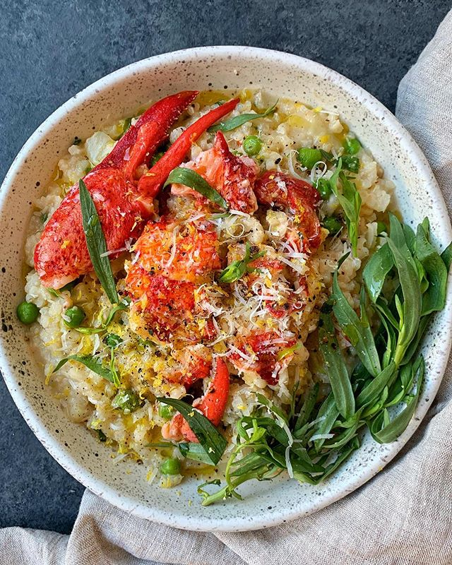 Tarragon Girl. (Vday is coming, prepare your bodies for @mollyjean4's lobster risotto on @thefeedfeed. Romance is 1/2 cup mascarpone!) #feedfeed #lobster #risotto #weeknightdinner #rice #valentinesday
