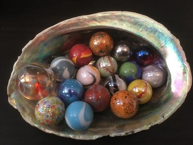 Pretty glass marbles. shelleyjoygilbert.com #marble #glassmarble #pretty