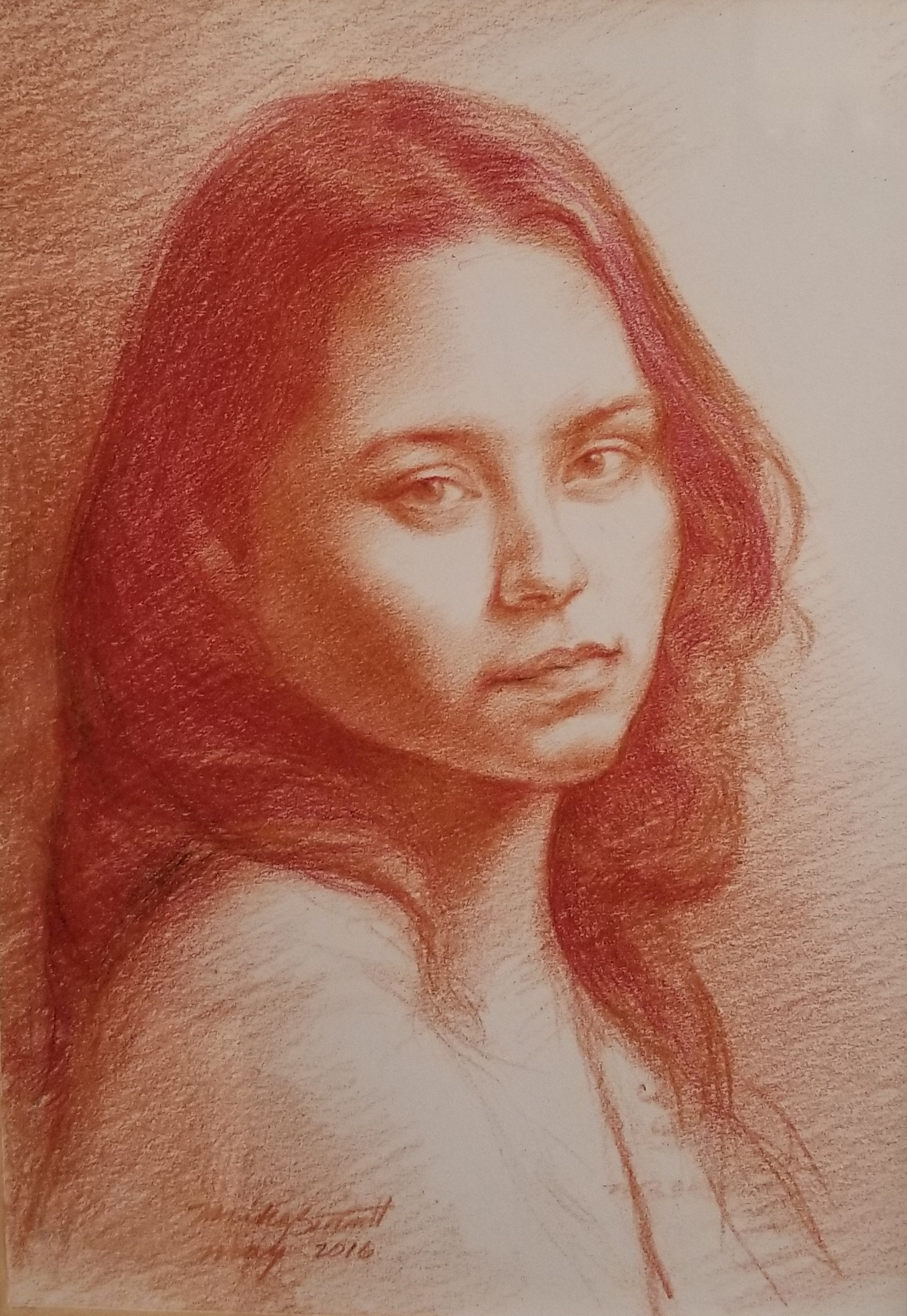 "Figure study  8"" x 10"" - wax crayon"
