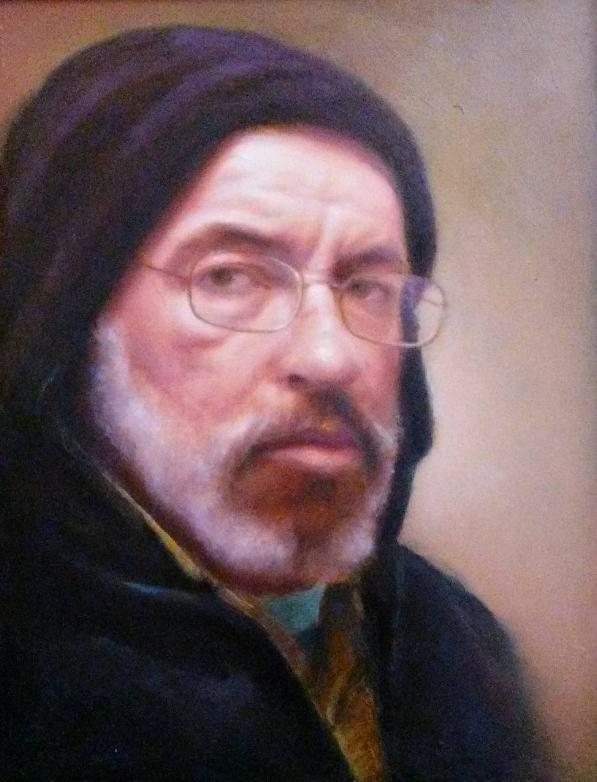 "Self Portrait  8"" x 10"" -oil on masonite"