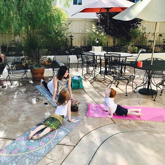Morning Yoga in Sunny San Diego ❤️