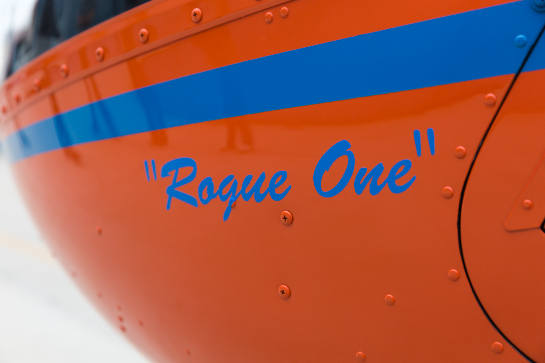 Rogue One, aka Helena - ◾️R66 Turbine Marine.◾️Delivered brand-new on May 30, 2015.◾️Seats five.◾️Pop-out floats for water safety.◾️Used for aerial filming with our GSS Cinema Pro Gimbal.◾️Maximum Gross Weight: 2700 lb.