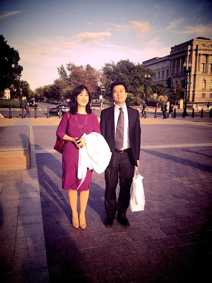 "Jennifer and Kean Wong  before the screening of ""Free China"" at the Congress, in Washington, D.C. on Sep 21, 2012— with  Jennifer Zeng  and  Kean Wong  at  United States Capitol ."