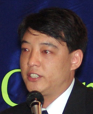"Hao Fengjun Speaks in tears at the  ""Chen Yonglin Discussion Meeting"" in Melbourne on August 6, 2005."