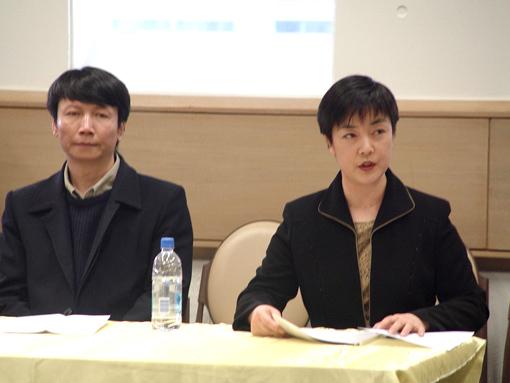 原告代表曾錚及公訴人代表潘晴(大纪元)
