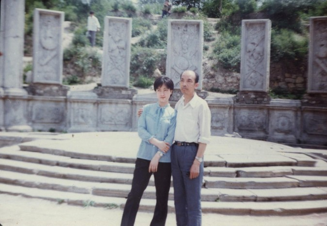 This photo was taken in Yuanming Yuan (Old Summer Palace) in Beijing when Jennifer was a graduate student. (Provided by Jennifer Zeng)