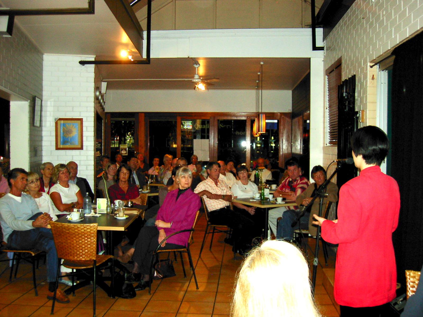 Jennifer at a book signing event at Buderim, Sunshine Coast, Australia on May 5, 2005
