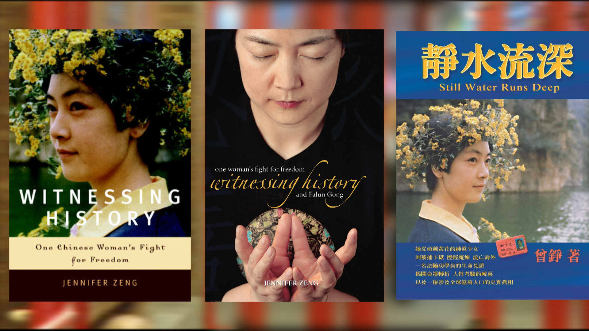 covers of Jennifer's book in English and Chinese.