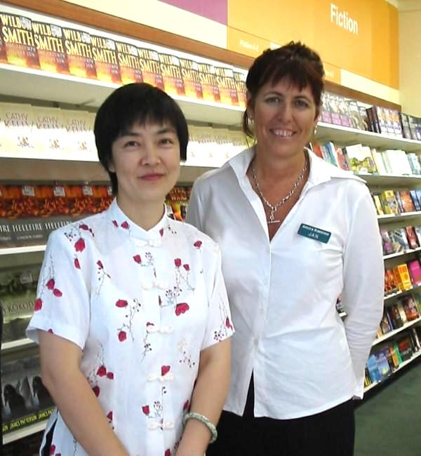 Jennifer at a book-signing event in Brisbane, Australia in May 2005.