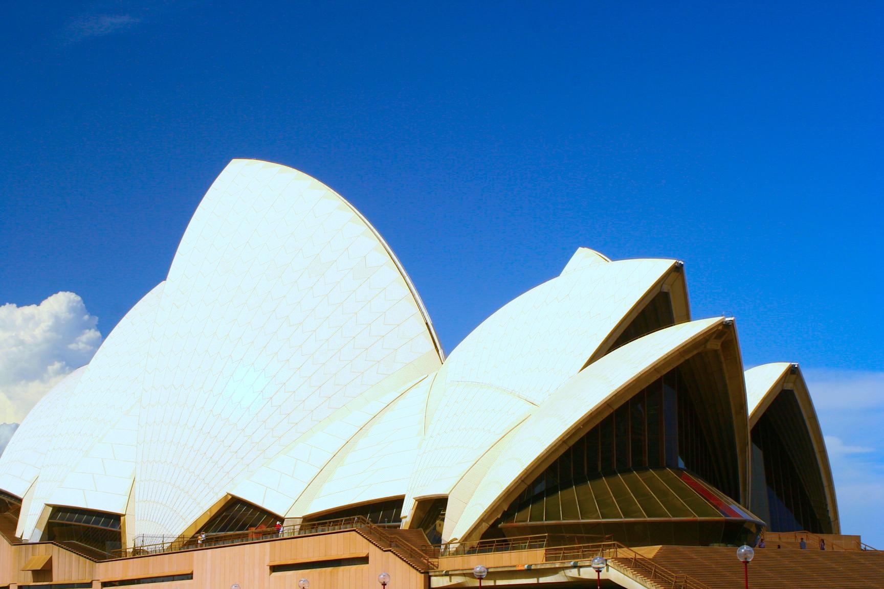 悉尼歌劇院近景,2009年攝。