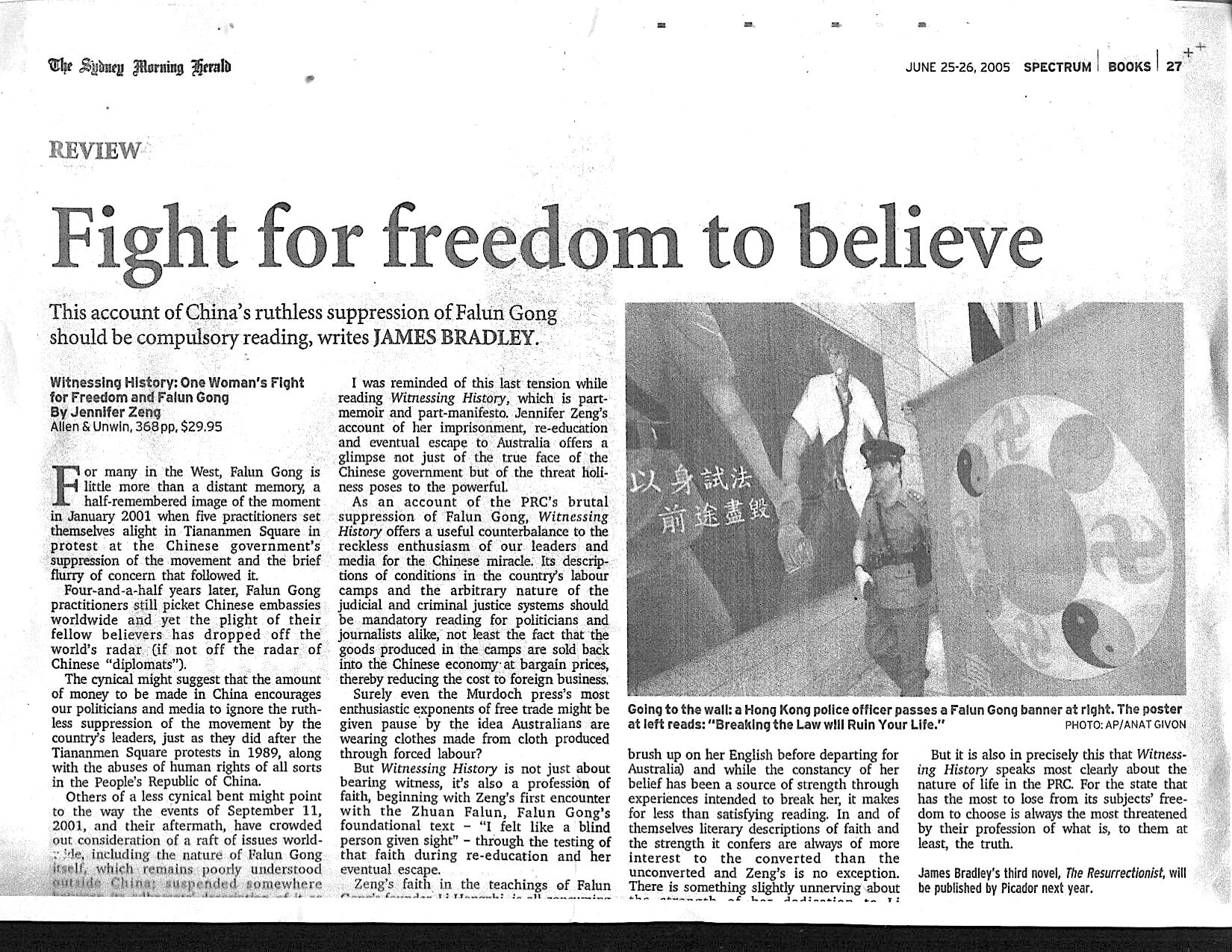 SMH review-Fight For Freedom to Belive-in newspaper.jpg