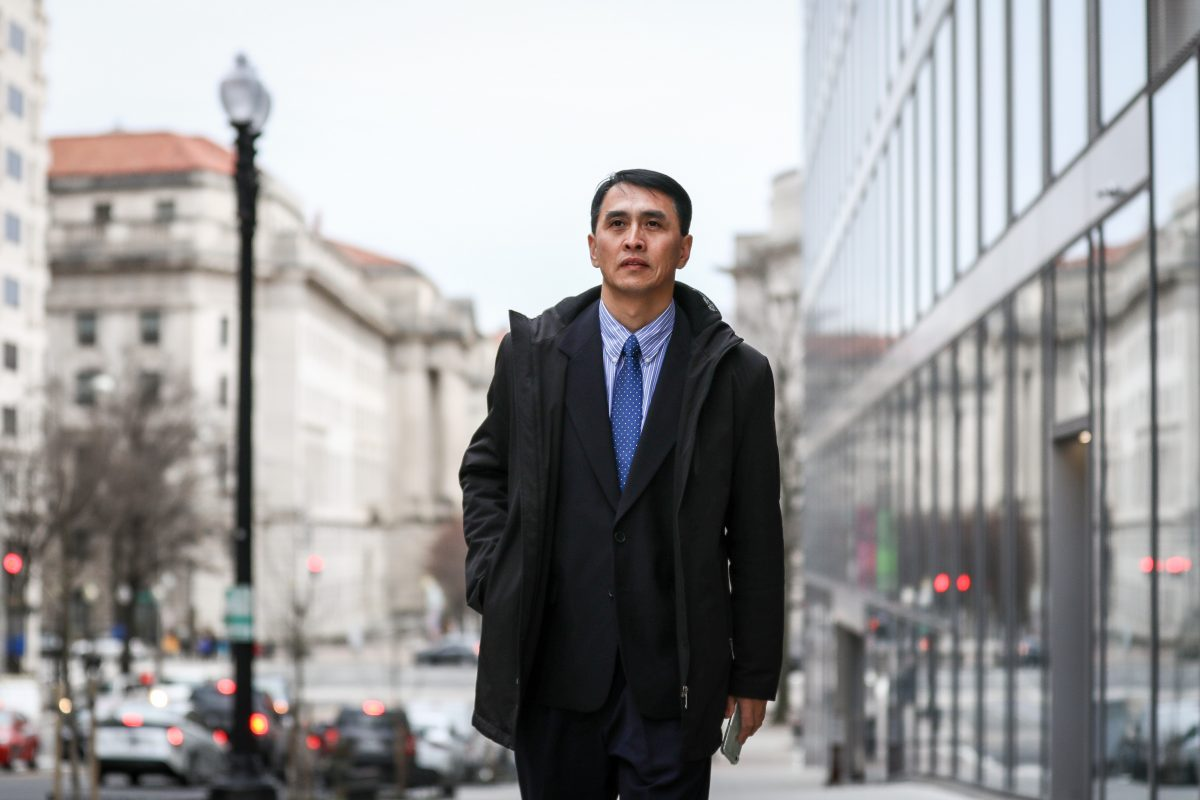 Businessman Yu Ming in Washington on Feb. 19, 2019. He arrived in the United States to join his wife and daughter in January 2019 through the help of the U.S. government, after being imprisoned for 12 years and tortured nearly to death in labor camps in China for his beliefs in Falun Gong. (Samira Bouaou/The Epoch Times)
