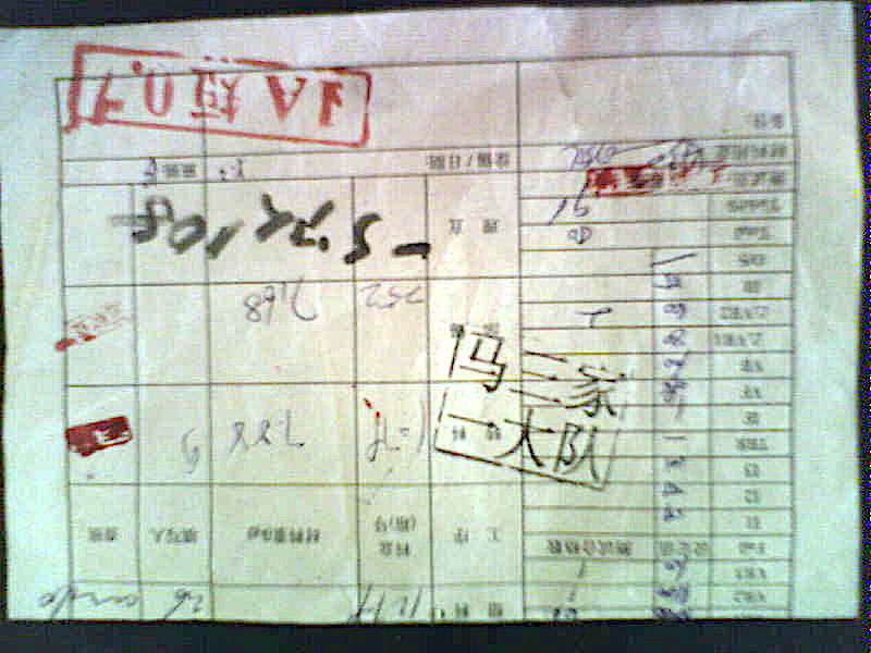 祕拍於馬三家勞教所內的「GW 生產流程卡」(于溟提供)A card used to keep track of the making of diodes in Masanjia Labor Camp. (Courtesy Yu Ming)