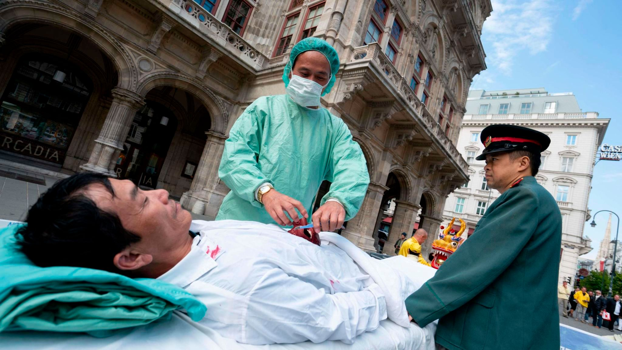 People in Vienna last year protesting against the importing of human organs from China