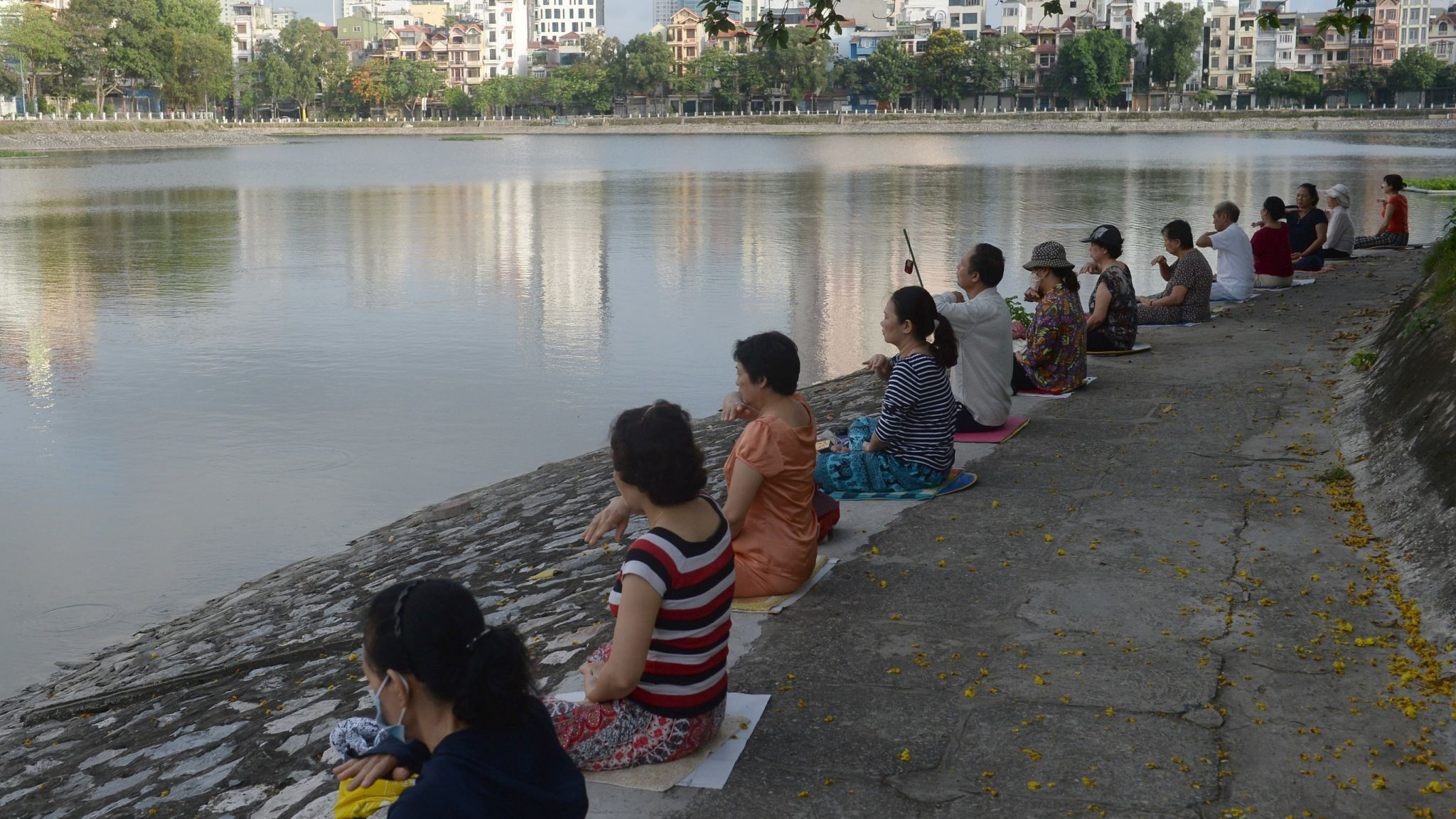 Falun Gong is a Chinese religious spiritual practice also seen in other countries such as Vietnam (pictured)