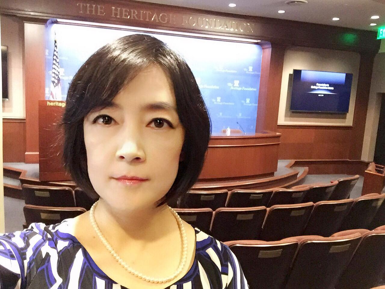 Before the speech. 演講前