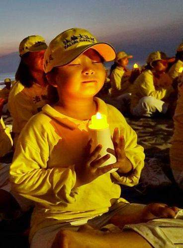 Mingxin, Ma Xiaoqin's daughter, at a Falun Gong event in Indonesia in 2015. (Courtesy Ma Xiaoqin)
