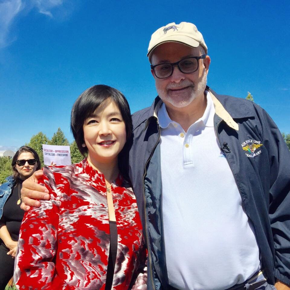 "Jennifer with Mark Levin, Mark Levin Show, LevinTV,    at the ""Stop Socialism Choose Freedom"" rally at Washington DC on Sep. 19, 2019"