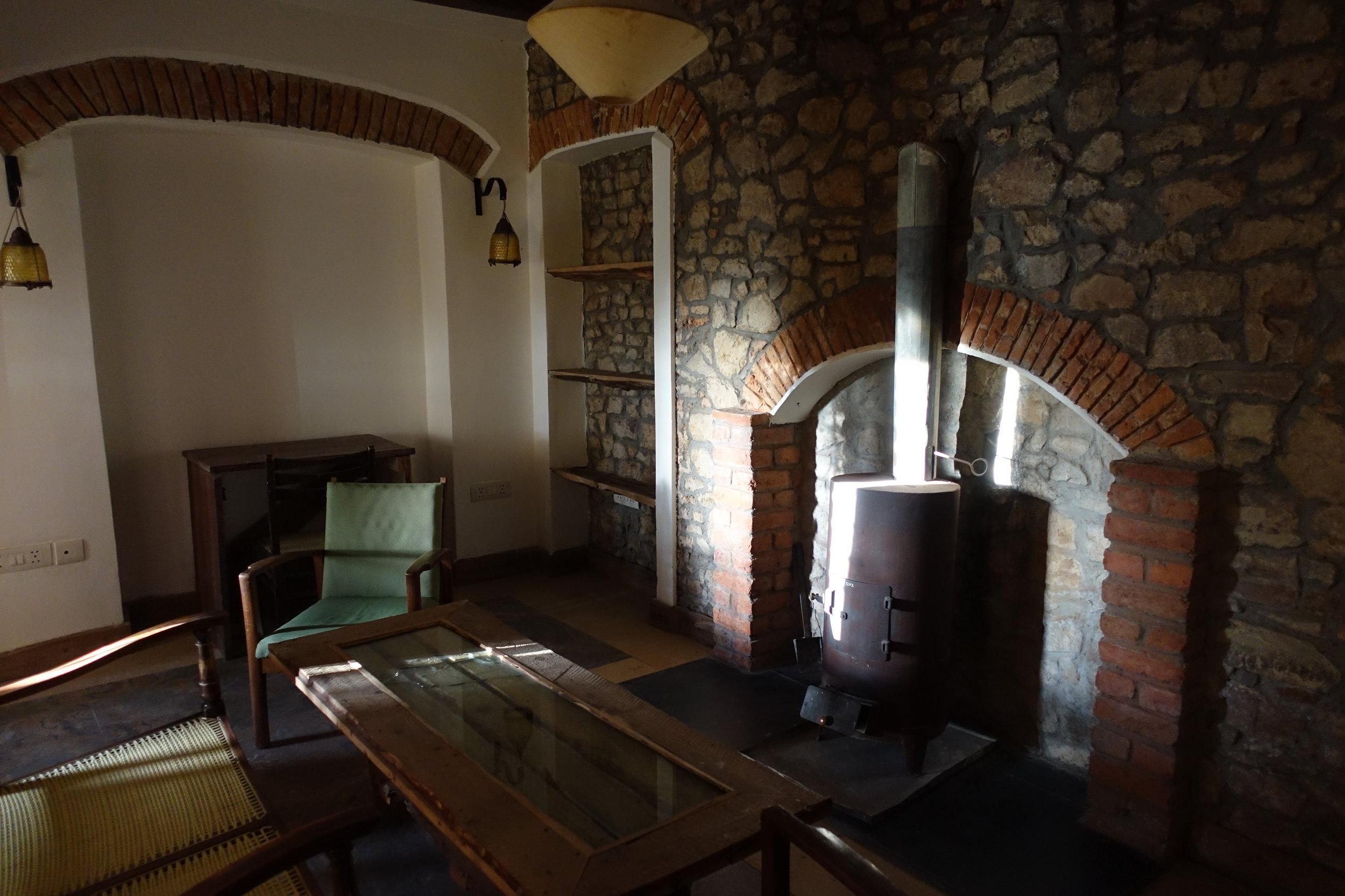 Our bukhari (wood-burning heater)