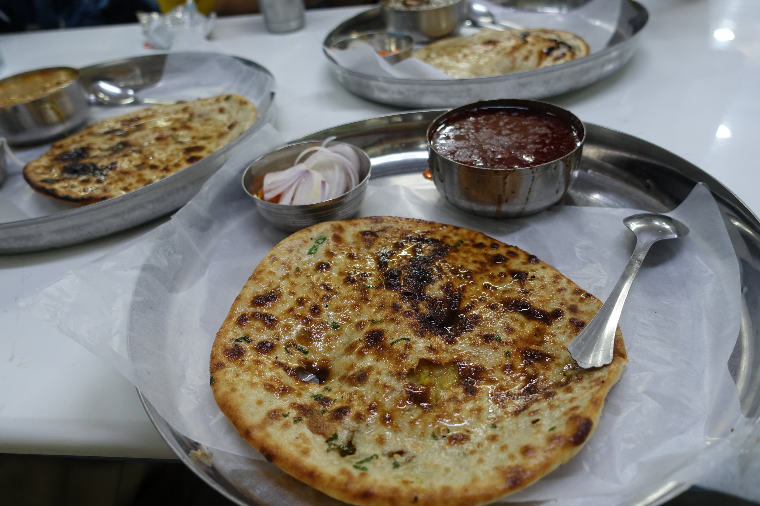 Anthony Bourdain visited this place, Kesar Da Dhaba, because of its masterful craftsmanship of meals like these.