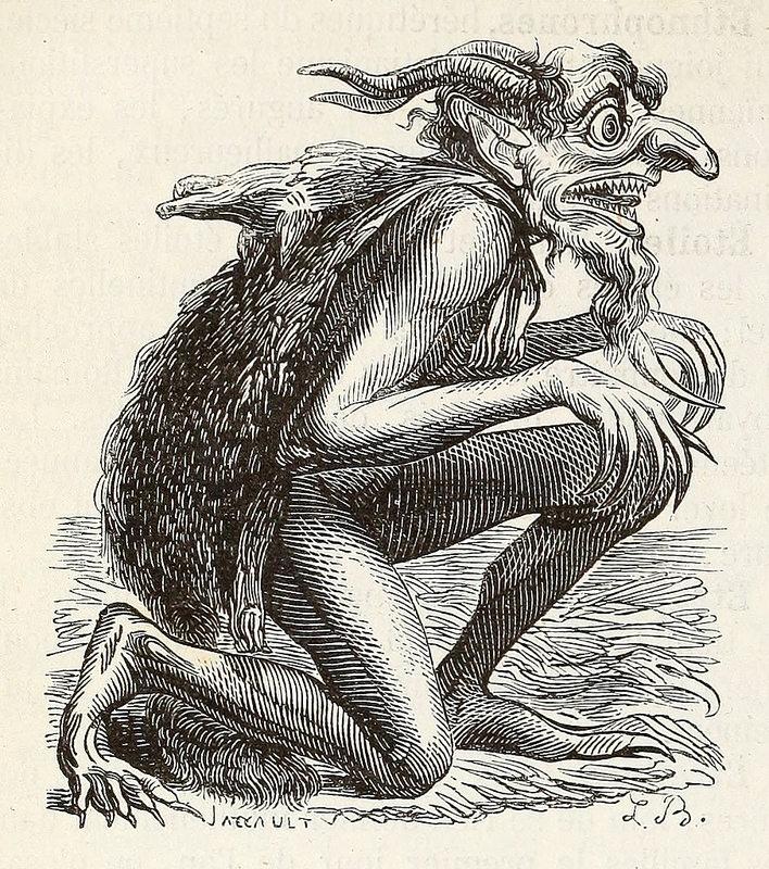 Eurynome, de la edición de 1863 del  Dictionnaire infernal  de Collin de Plancy