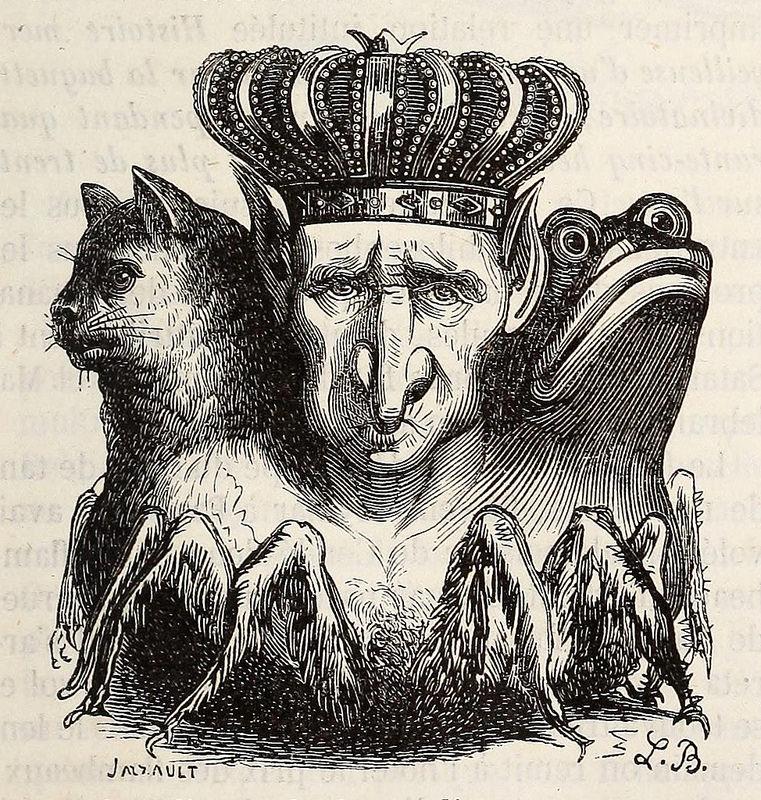 Bael, de la edición de 1863 del  Dictionnaire infernal  de Collin de Plancy.
