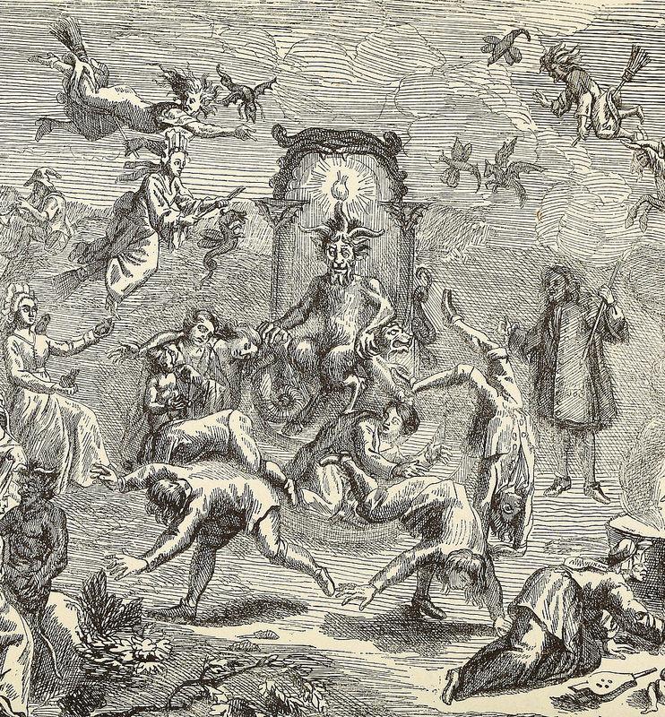 Detalle del frontispicio de la edición de 1863 del  Dictionnaire infernal  de Collin de Plancy