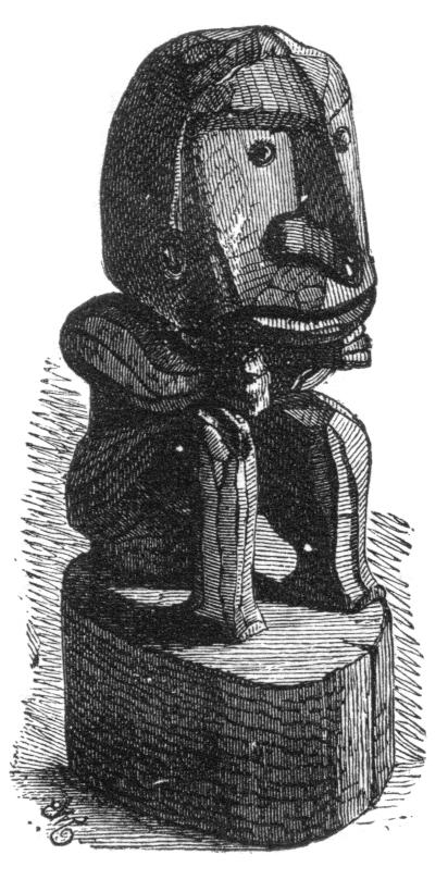 Una escultura de Papúa, ilustrada por Wallace en  The Malay Archipelago